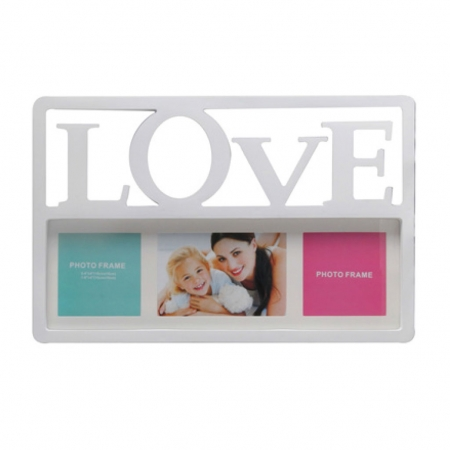 מסגרת עמית 3 תמונות+LOVE