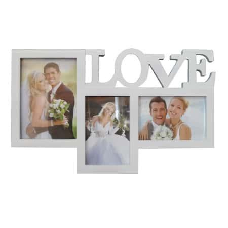 מסגרת עמית 3 תמונות עם LOVE