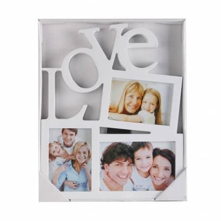 מסגרת עמית 3 תמונות Love אלכסוני